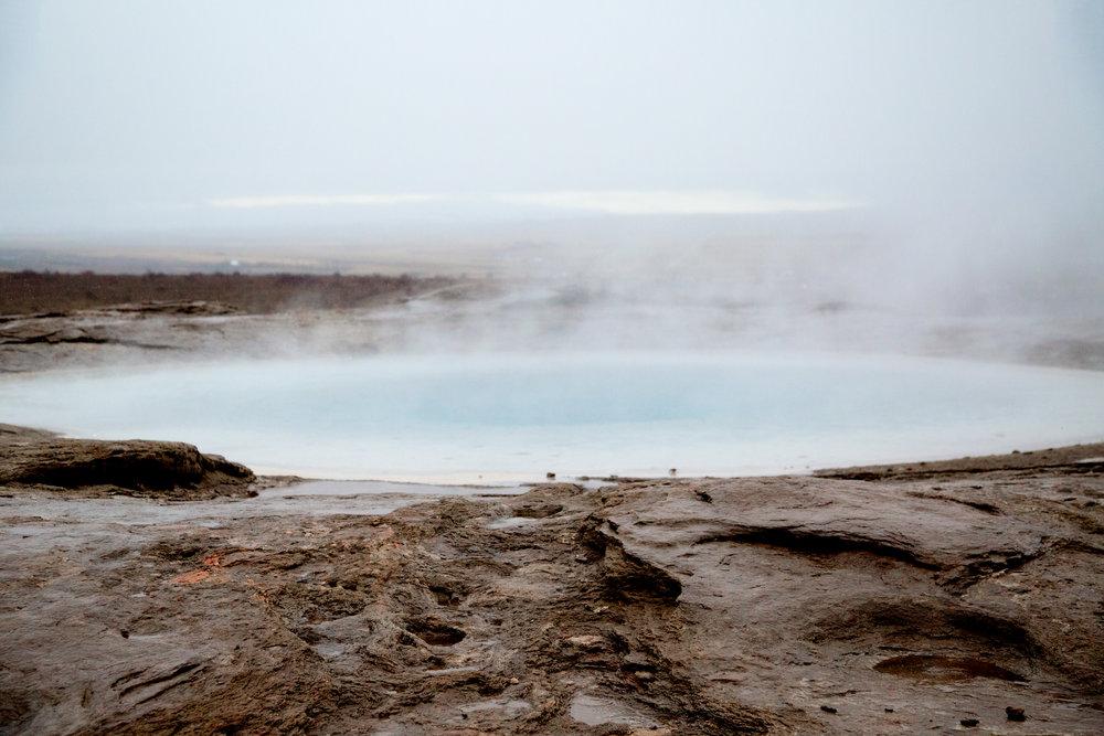 Geysir landscape (a steaming pool near the famous Geysir)