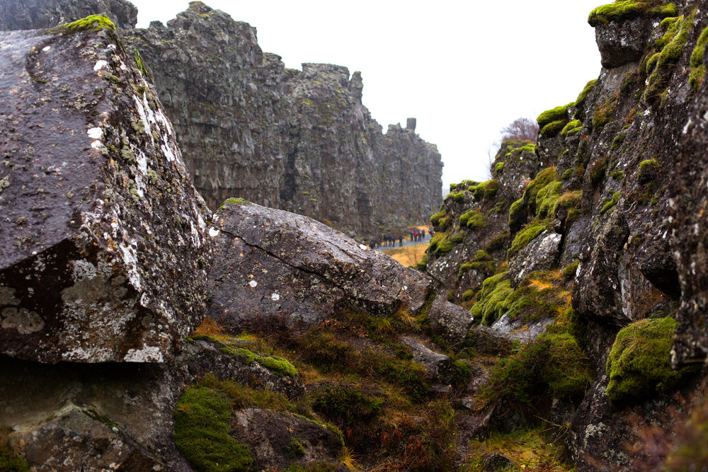Thingvellir: above ground manifestation of the European and American tectonic plates collide - mindblowing.
