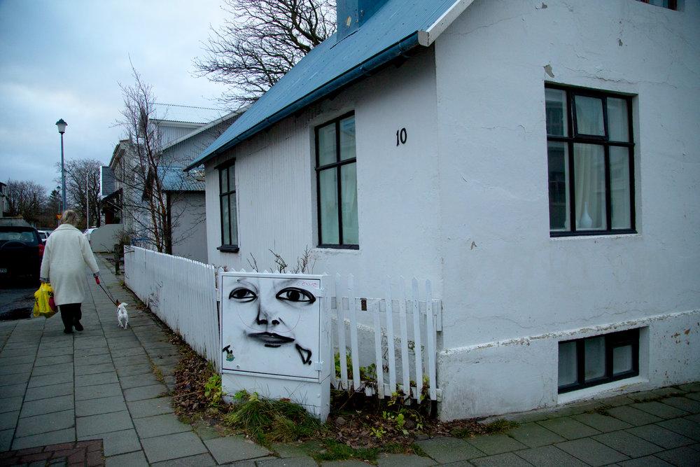 Sassy street art was everywhere