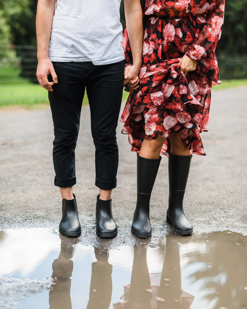 rain boots and puddle