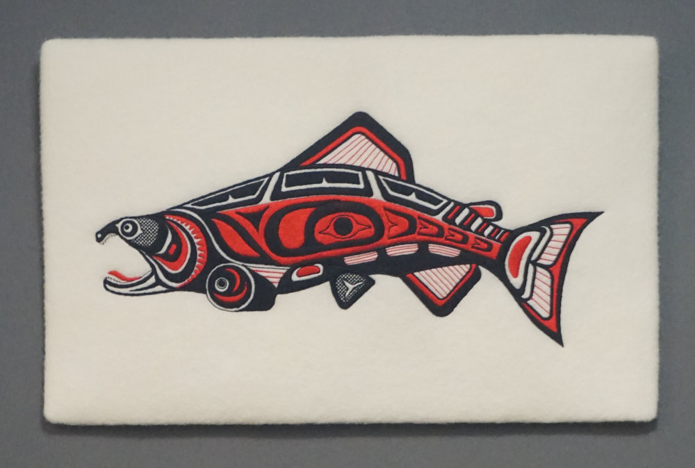 SALMON  WALL HANGING  17 X 11  $92