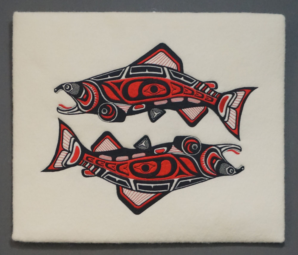 SALMON RUN WALL HANGING   15 X 14   $169