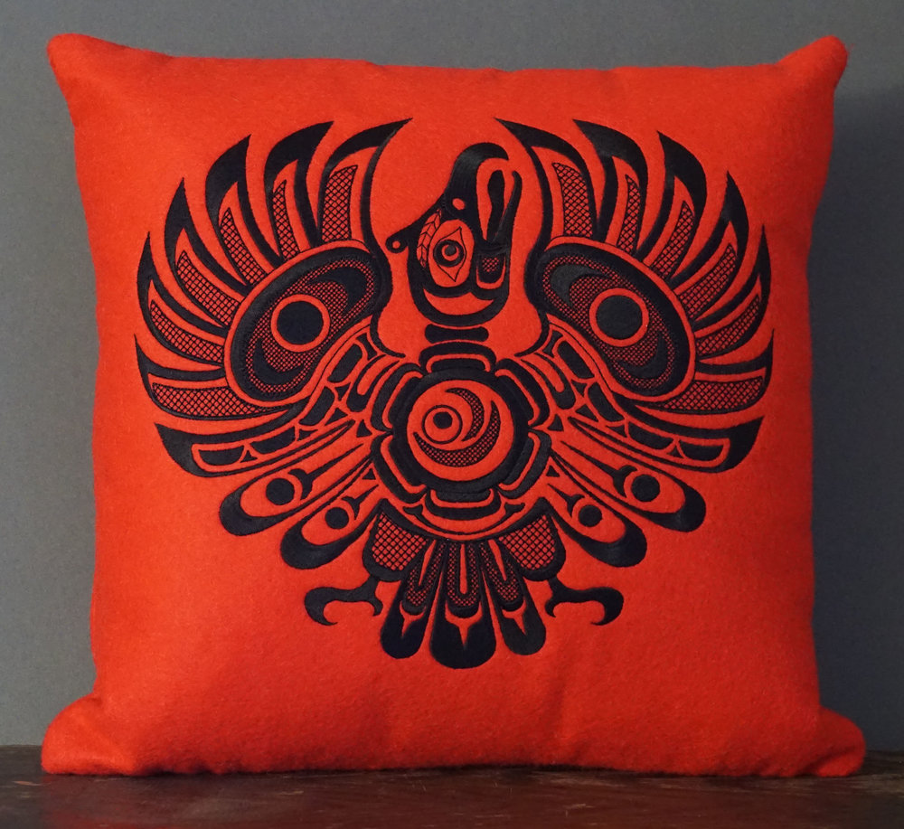 THUNDERBIRD PILLOW  15 X 15    $103