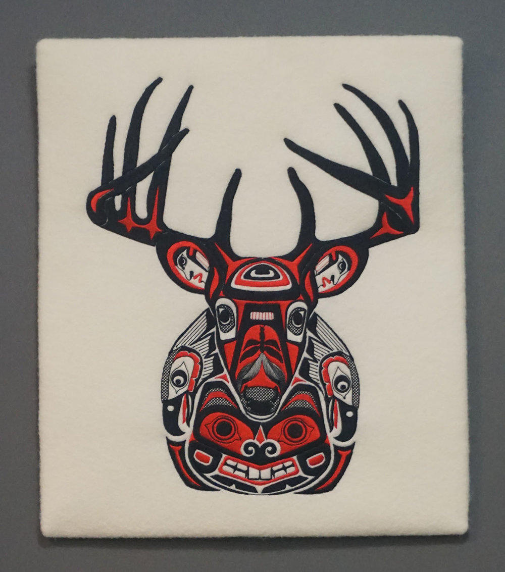 DEER WALL HANGING   17 X 15   $130