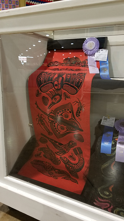 sea life totem won both First place and best of division awards at the Oregon state fair 2018