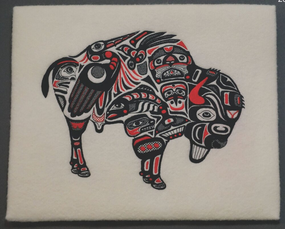 BISON WALL HANGING  17 X 13  %152