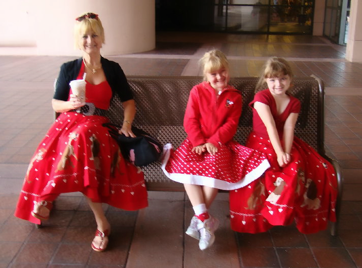 Debbie and her grand nieces at (where else?) Disney