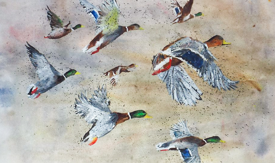 Ducks In Flight III