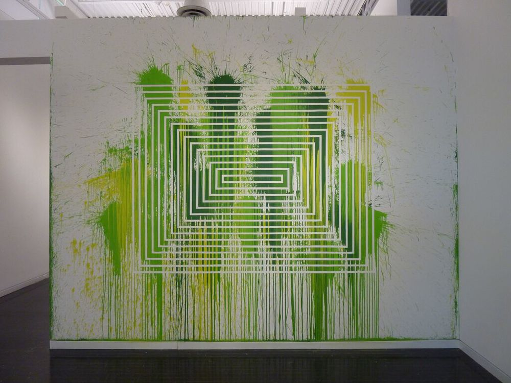 Santiago Cucullu, Green Hell, 2015. This is the second iteration of the piece, the first created via instructions at Labor Gallery in Mexico D.F, 2009.