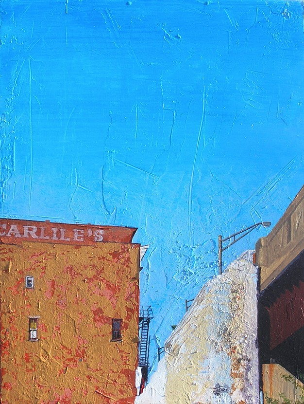 Carlile's , 2012, acrylic and shellac on wood.