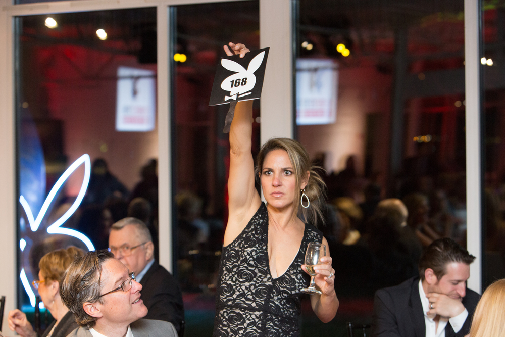 A lively shot captured during the auction at EAM's 2016 Soiree