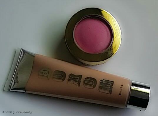 Buxom Divine Goddess Luminizer in Venus and Milani Baked Blush in Delizioso Pink