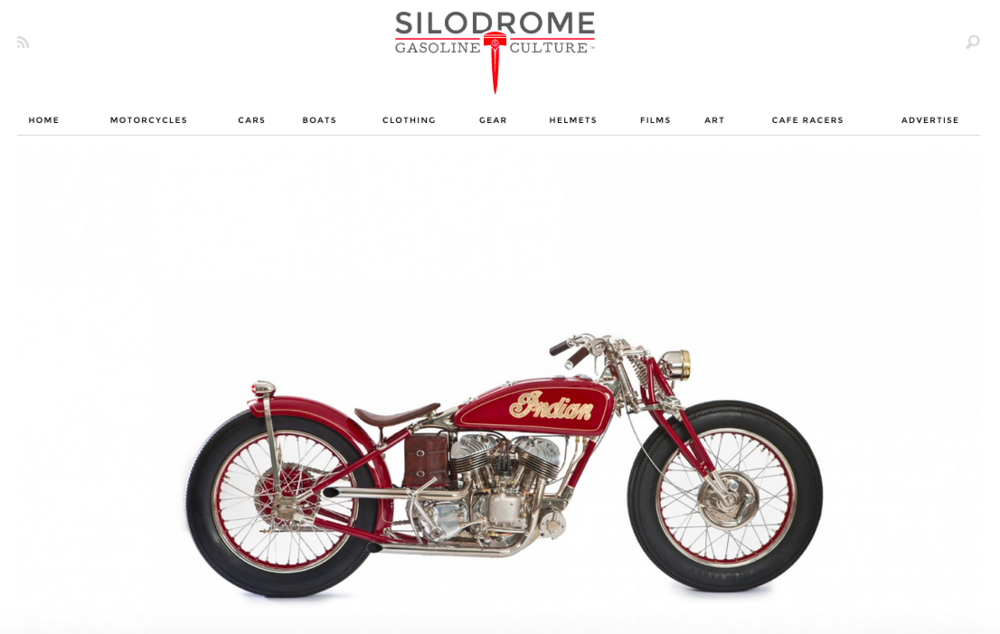 Thank you to James McBride at Silodrome for featuring our 1940 Indian today on his website.  Even though this build was competed in 2012 and recognized in different mediums throughout the world, it never gets old to continue to be recognized for all of Jesse's hard work.  You can view the article here:  http://silodrome.com/gasbox-indian-scout/   We had many people inquire about purchasing this build over the last 3 years, and we are happy to report that after bringing it to the Mecum Motorcycle Auction in January, our Indian has been purchased by a perfect customer who truly appreciated all of the hard work and detail that went into this build.