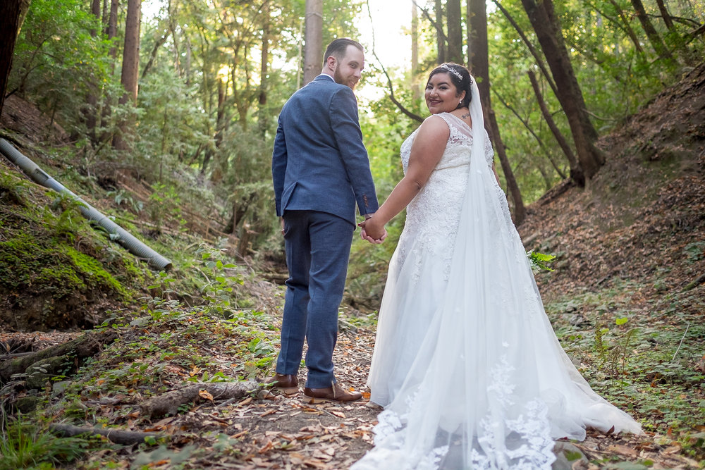 Bride and Groom choose this location because they love the redwoods