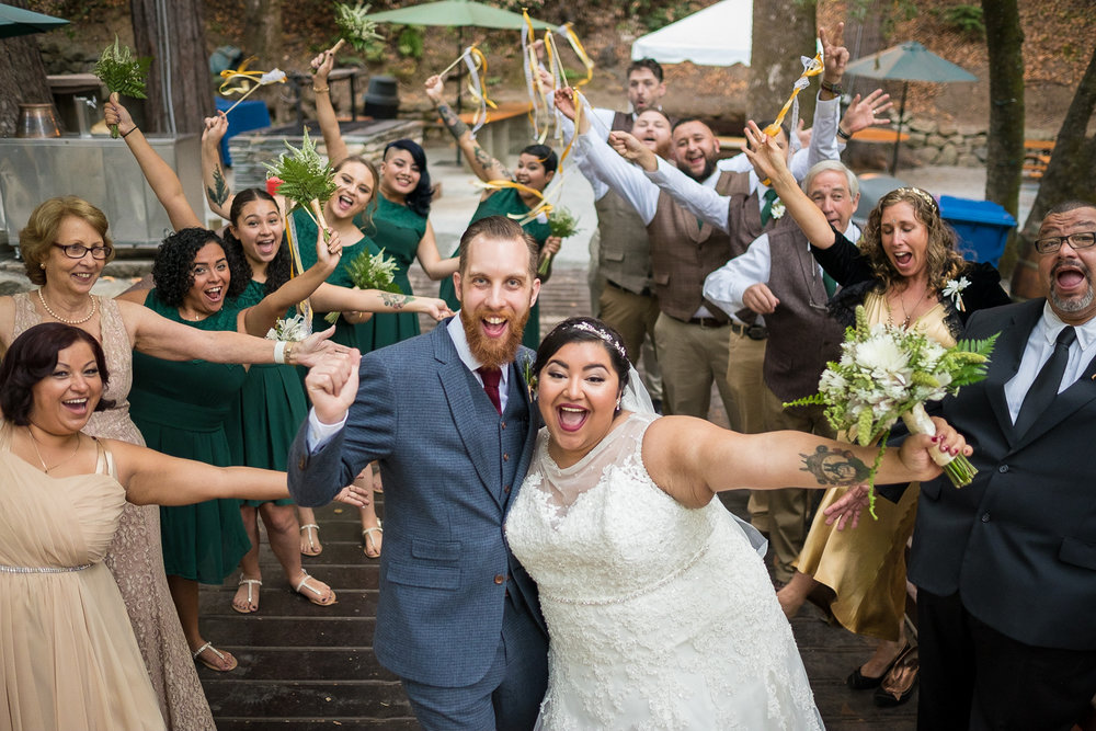 This couple achieved a dreamy woodland affair which they shared with their closest friends and family.