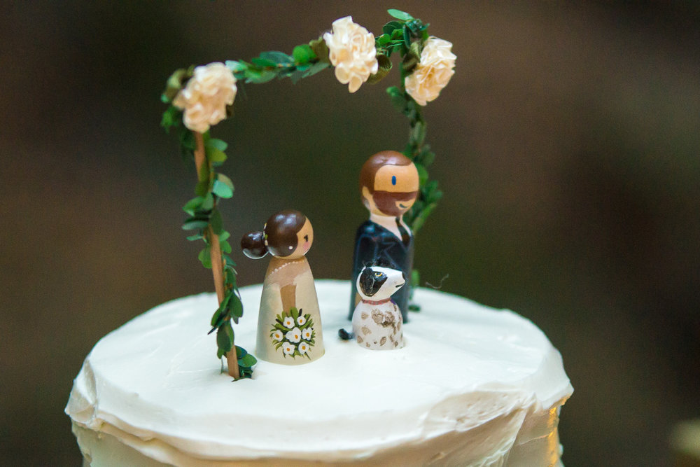Cute original wedding cake toppers