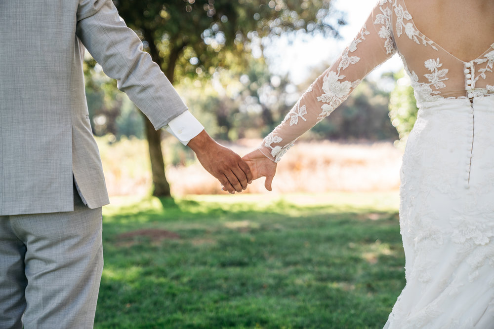 Holding Hands in San Jose California for Love and Weddings