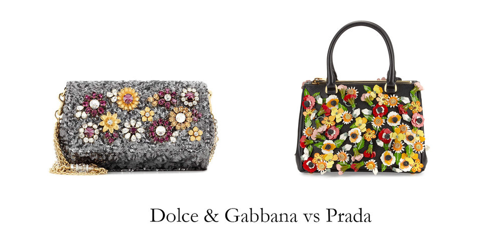 You can barely tell the difference between the Dolce and the Prada.