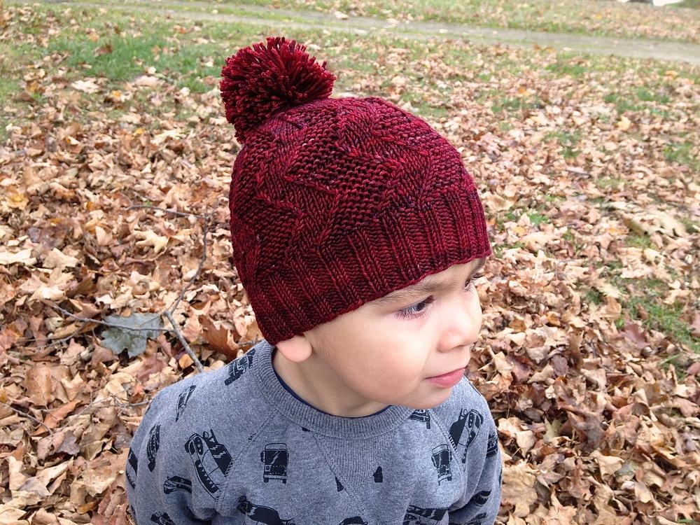 November Book Club Red Knit Cap Girl Knittin Little