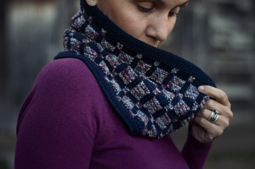 Blueberry Chip Cowl by Andrea Sanchez