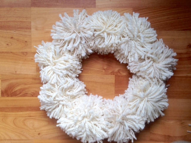 pompom wreath andrea sanchez