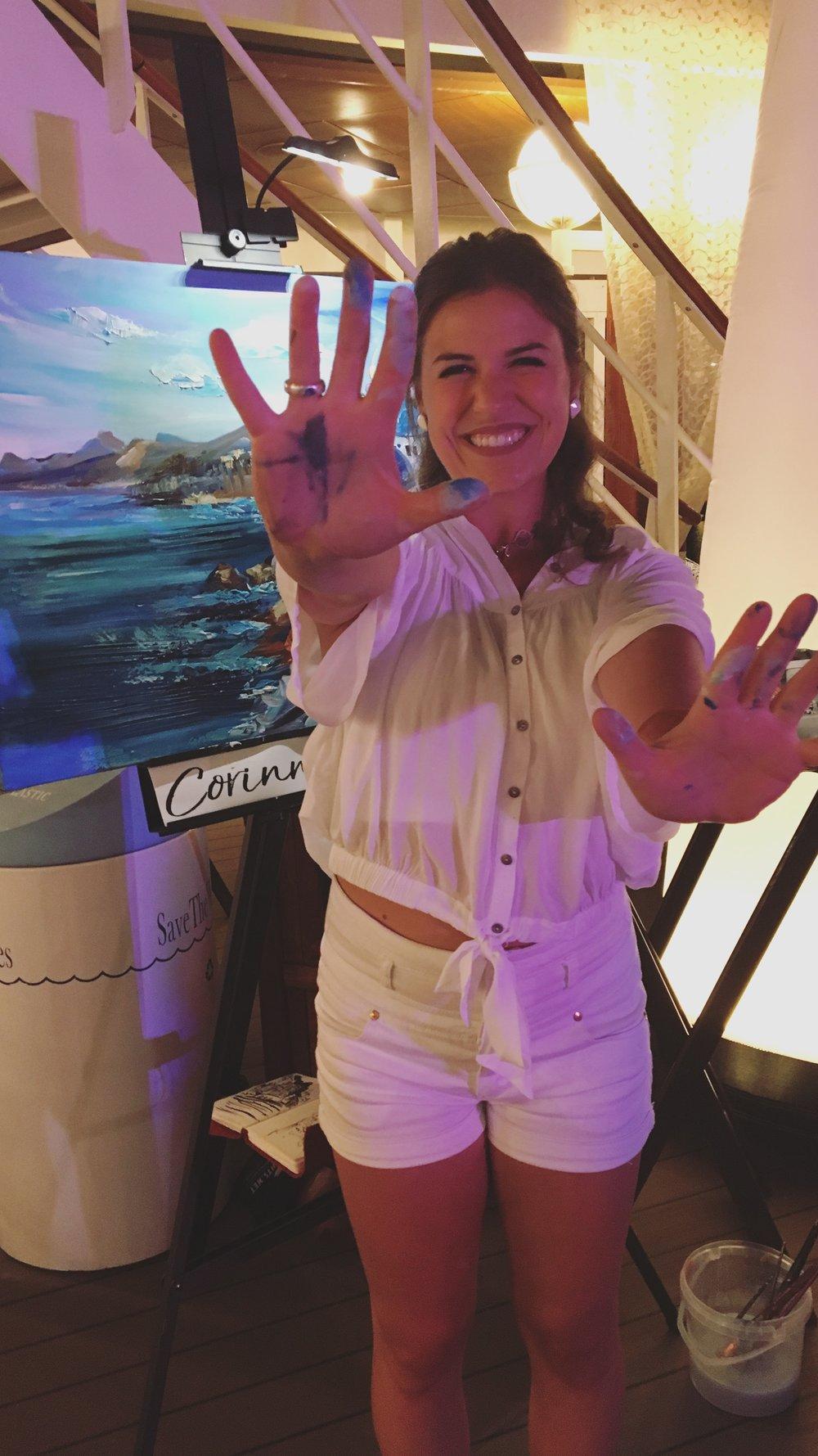 Painted hands, happy heart!  Santorini,  Greece