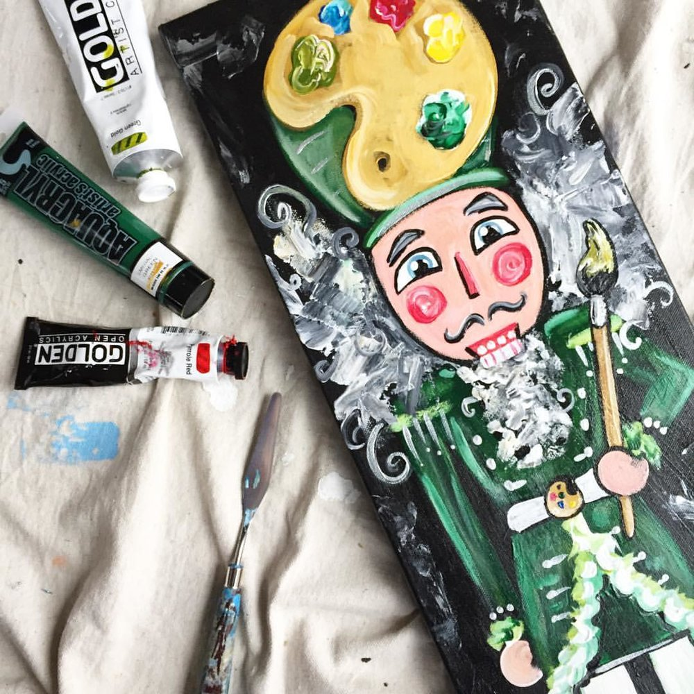 "Custom Nutcracker Painting - Use code ""EARLYXMAS"" for $15 off your order"