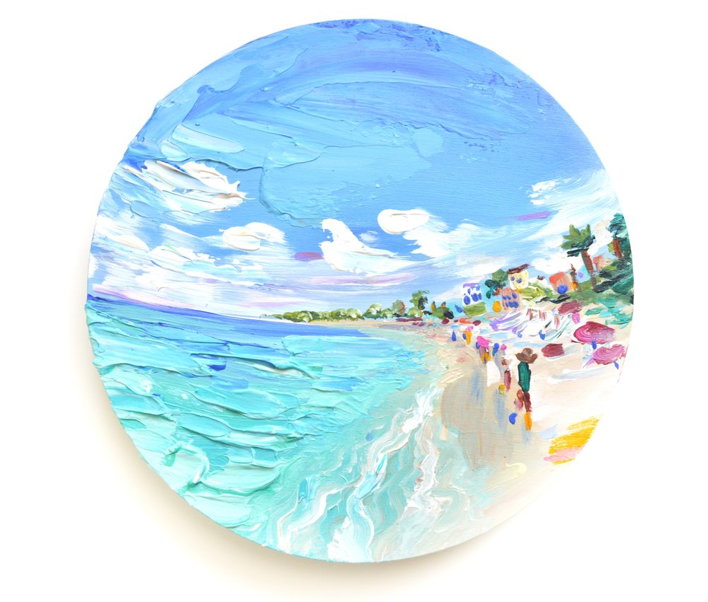 ORIGINALS - Acrylic artwork on archival paper, canvas and wood. Hand crafted with various paint brushes and palette knifes. Inspired by the artist's travels to Aruba.