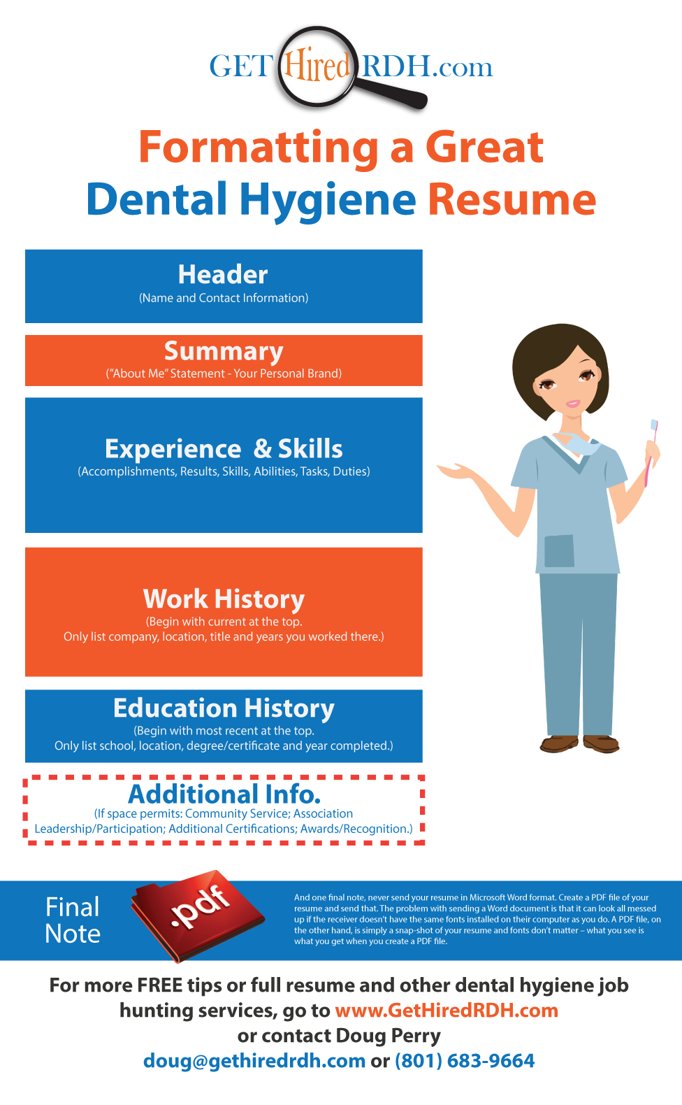 building a great dental hygiene resume