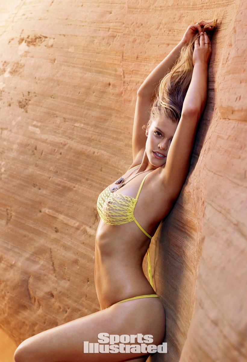 Yellow cabaret mesh thong bikini