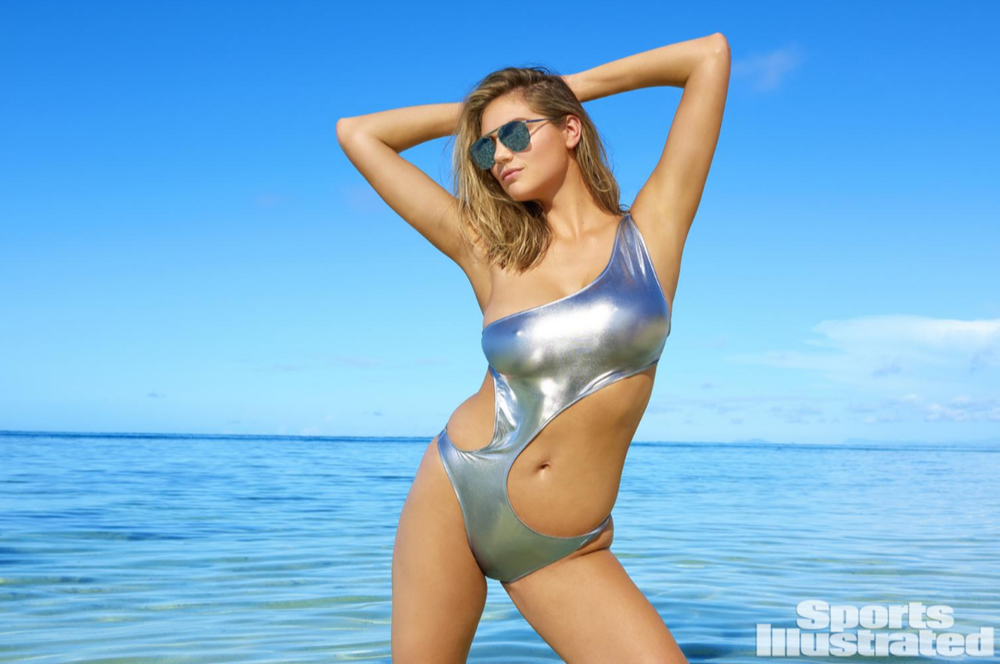 Silver metallic asymmetrical monokini