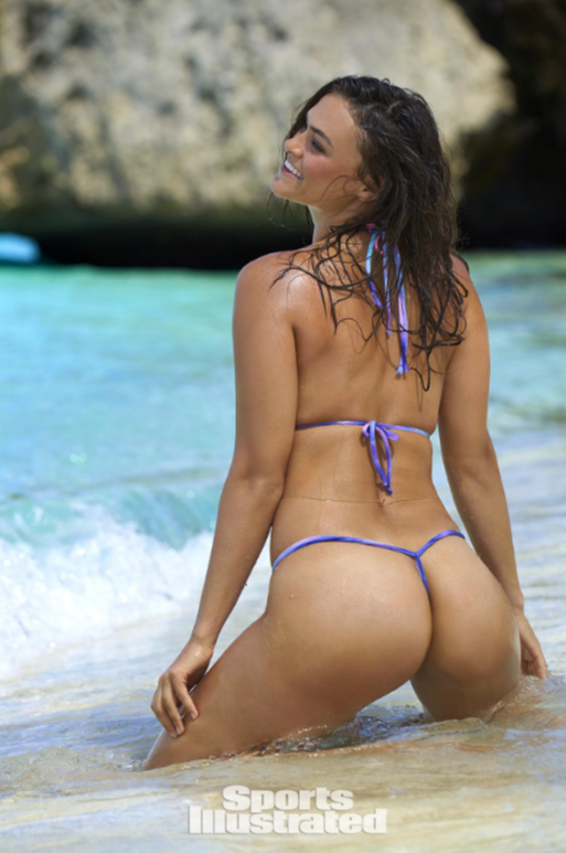 Pastel tie dye thong bikini
