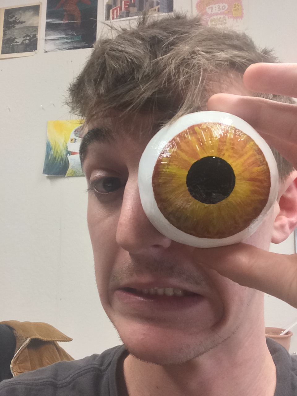 Yesterday I made a BIG eye.