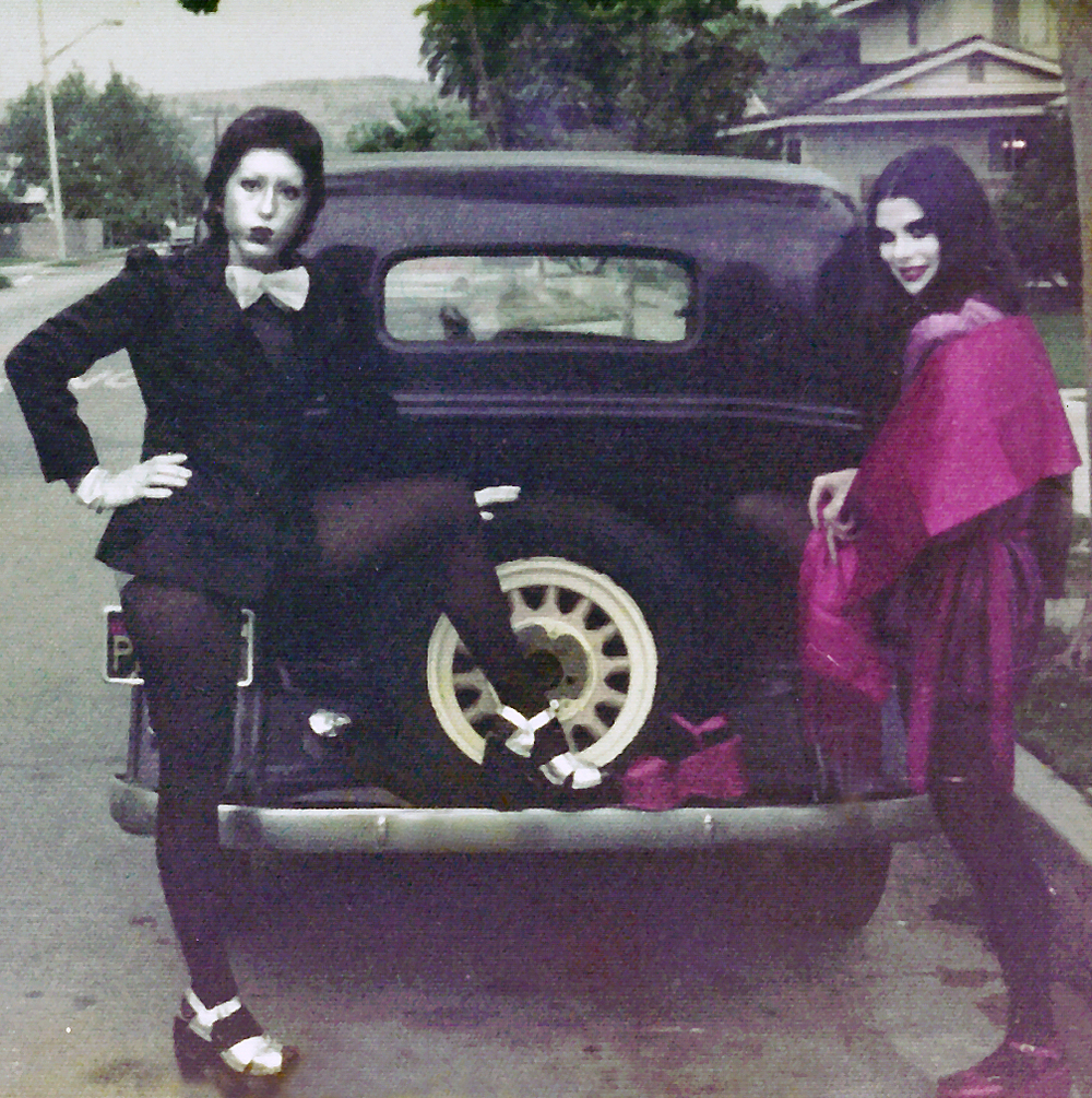 On our way to see KISS in concert, circa 1974/75. Photographer unknown, collection of Alice Bag.