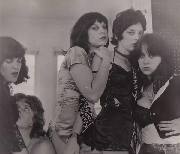 Backstage Pass, 1977 - Marina on far left.