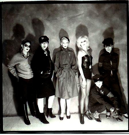 Tracy Lea, Alice Bag, Tiffany Kennedy, Dinah Cancer, Shannon Wilhelm, Elissa Bello in Castration Squad, circa 1981.
