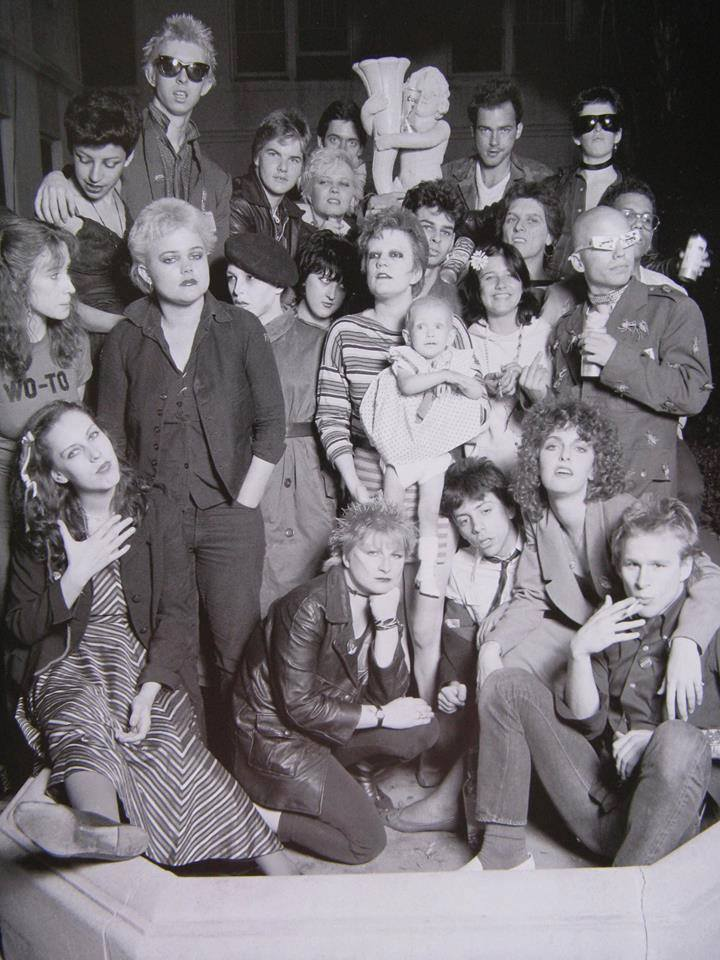 Punks at the Canterbury, 1977. Connie Clarksville front and center. Photo by Jules Bates.