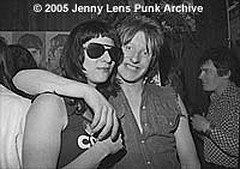 Spock and Rat Scabies in 1977, photo courtesy of Jenny Lens.