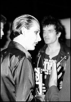 The Damned's Dave Vanian 1977 - photographer unknown