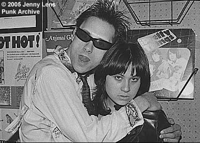 Tommy Gear and Genny Body, 4/9/77 at Bomp Records