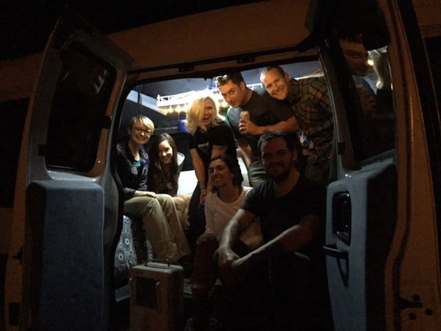 This crew is tight. Like too many people cramped in a #vanlife tight.