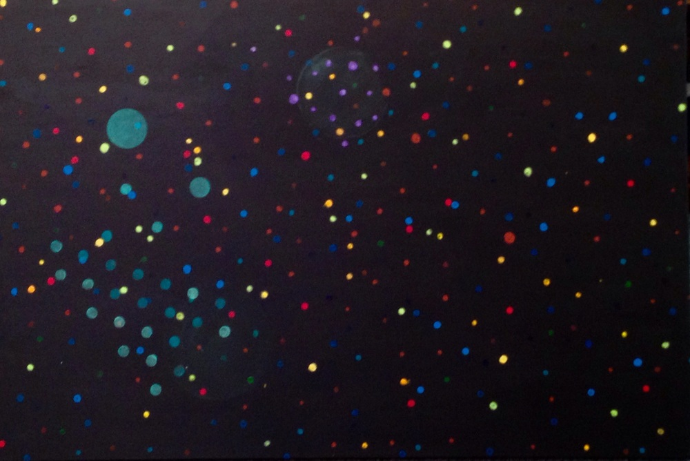 The canvases 2' x 3'. It's going to require a lot of dots.