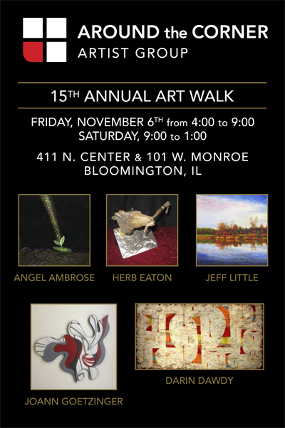 15th Year Around the Corner Art Walk Invite