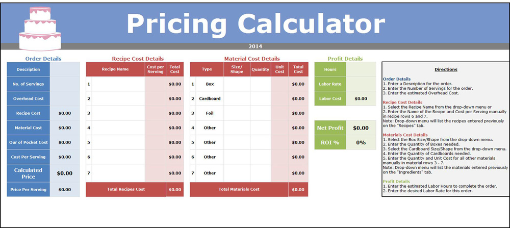 Cost Calculator Excel Template Jdeasycocktail Cost