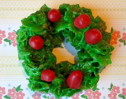 Such a Flake Cornflake Wreath Cookies Recipe  CakeSpy