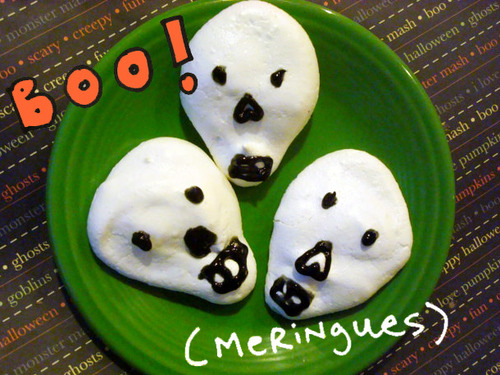 Boo-MeringuesMeringue Skulls Recipe for Serious Eats CakeSpy