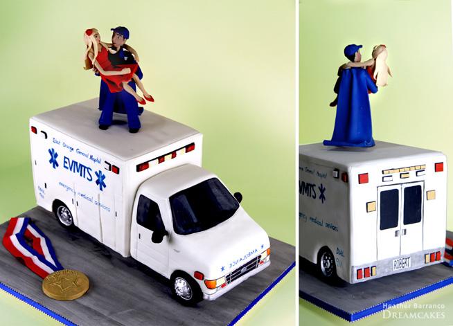 Cake Design Ambulancier Ems