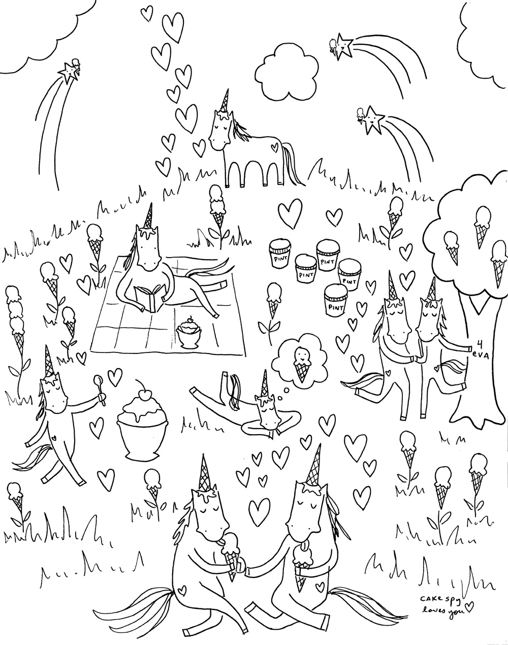 Website remodel, and a coloring book page for you. — CakeSpy