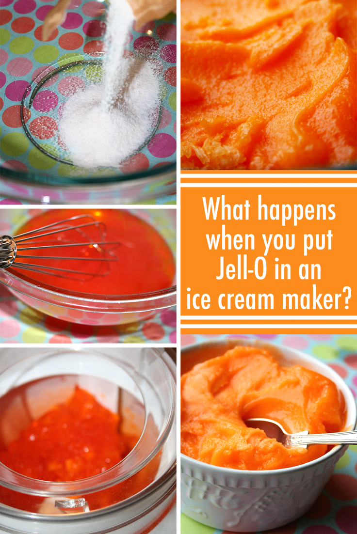 What Happens When You Put Jell O In An Ice Cream Maker