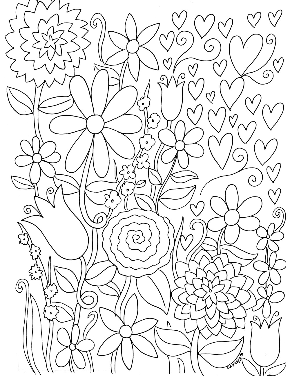 Free download: coloring book pages! Find them by clicking on the image.